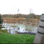 This is a bridge that is supposed to be over marsh land - view going away from river
