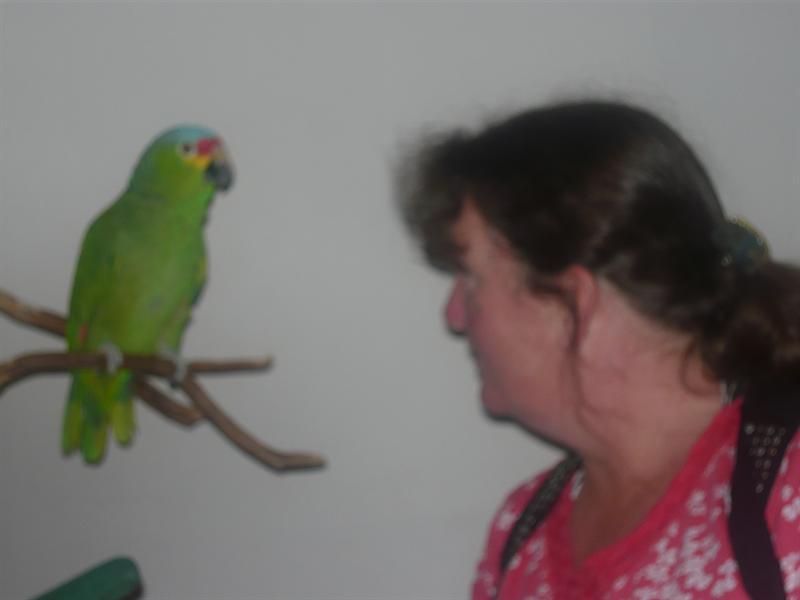 Jr meets the bird whisperer
