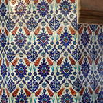tiled pillar with tulip motif