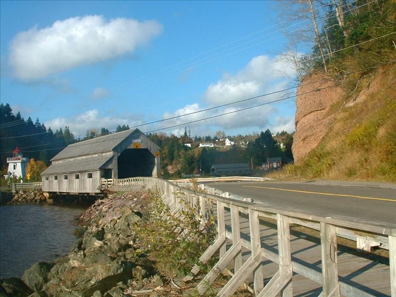 Covered bridge,St Johns, New Brunswick
