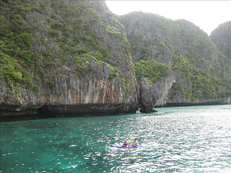 "Kayaking in Maya Bay to ""The Beach"""