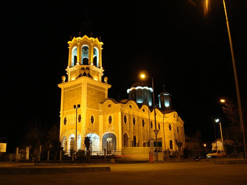 Svishtov, Church by night