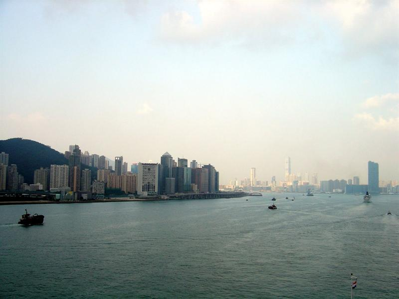 going ahead towards Hong Kong island