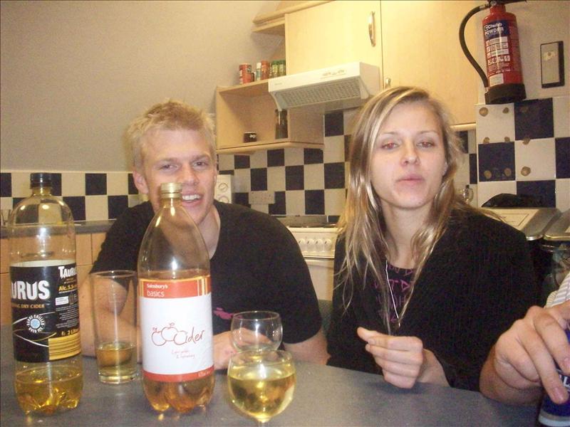 Cider time! Jess and Esben