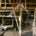 Tobacco drying barn, empty
