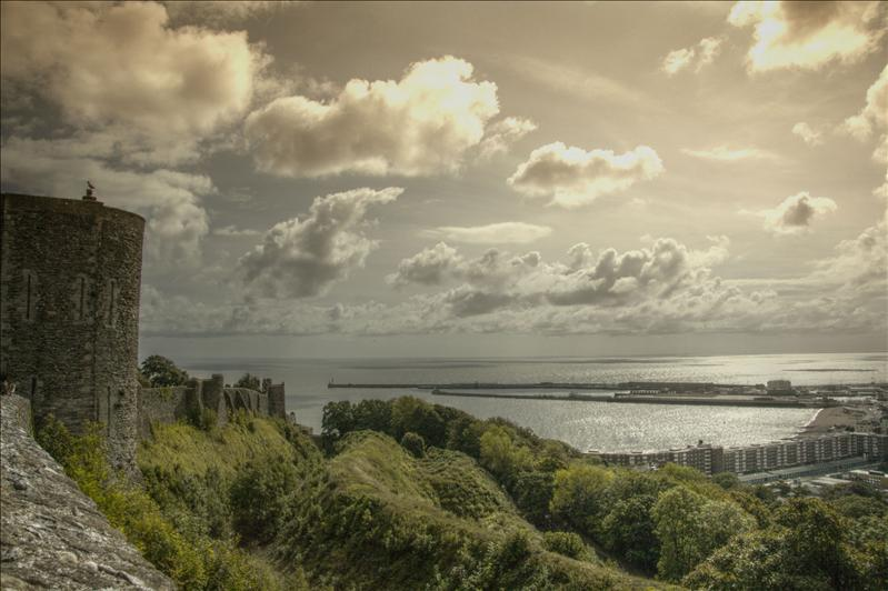 View from Dover Castle HDR