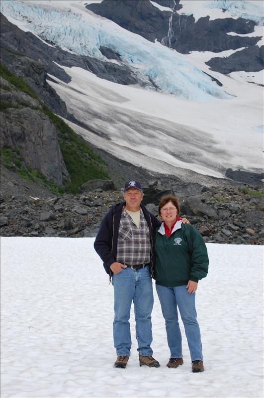 The Hagy's on Byron Glacier