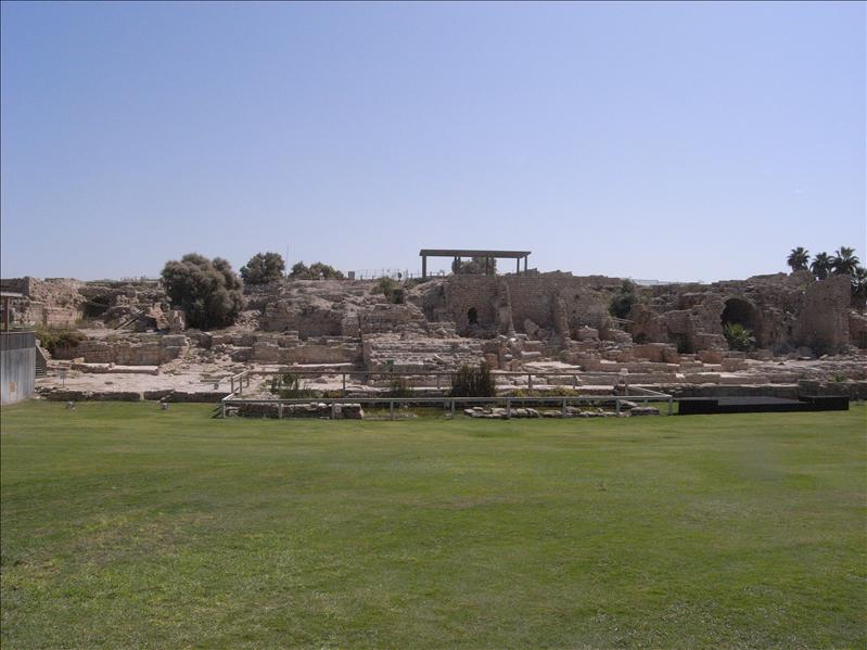 caesarea. buildt by herod in 22 BC.