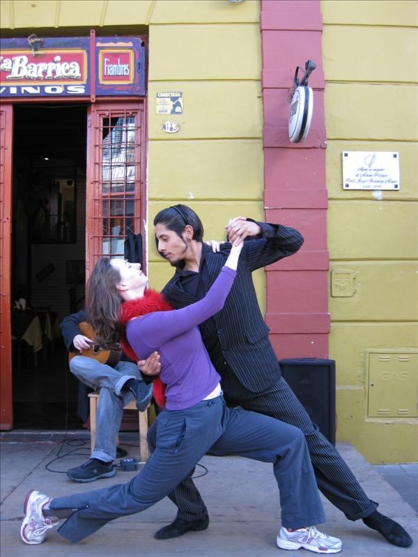 Me doing the tango in La Boca