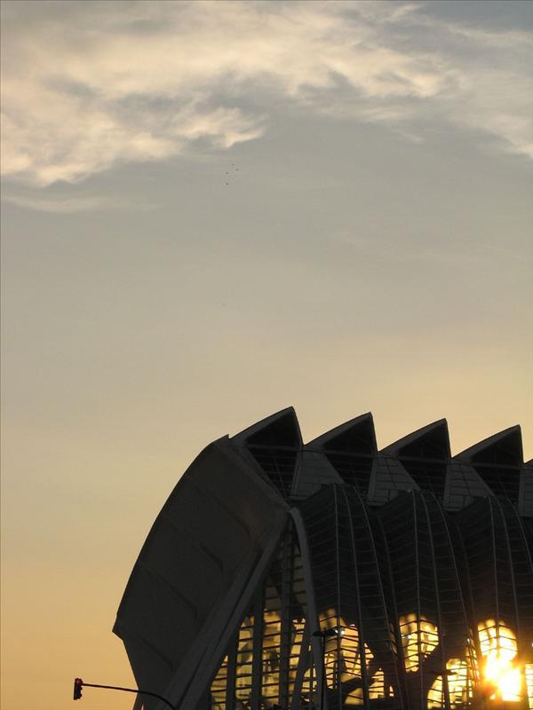 denti al tramonto