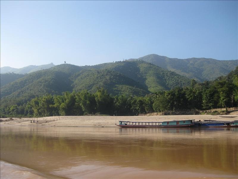 Slow boats on the Mekong