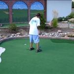 Laser Rock has a miniature golf outside