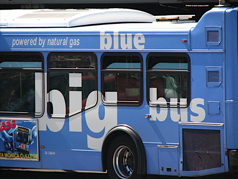 The BIG BLUE BUS!