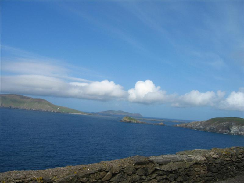 Looking across to the Ring of Kerry... don't cha love the sunshine?