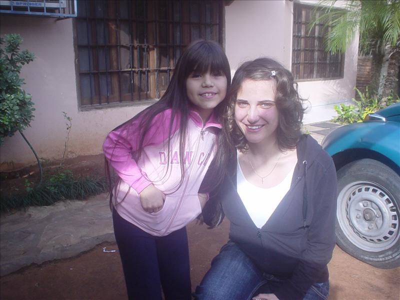 Meine Gastschwester Ailin (8) und ich