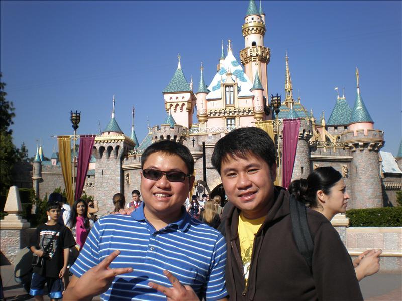 Bros at Disneyland