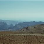 on the way to wadi rum