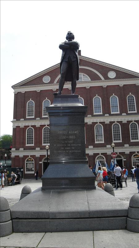 Sam Adams Memorial in front of Fanueil Hall
