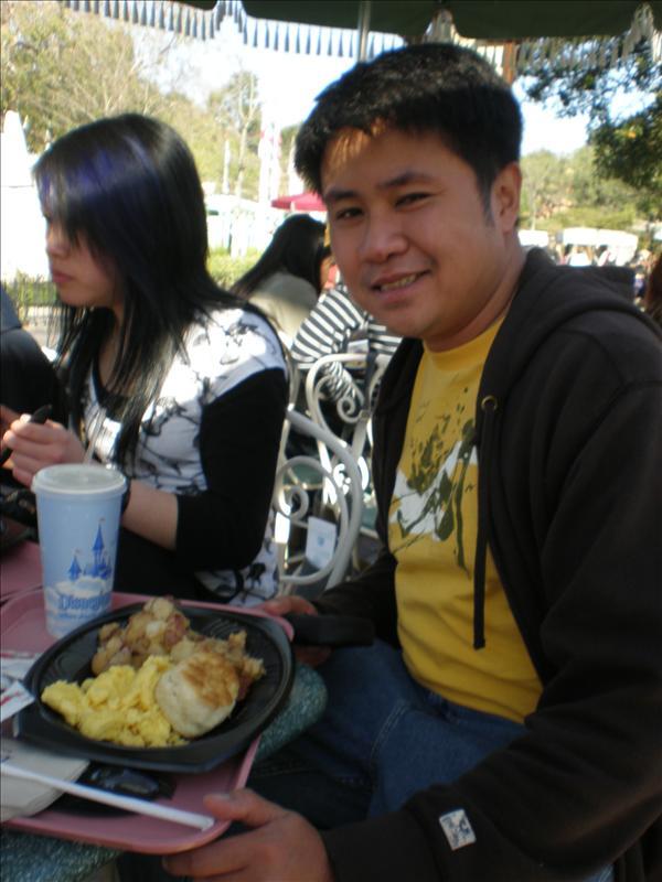 Breakfast inside Disneyland courtesy of Marie