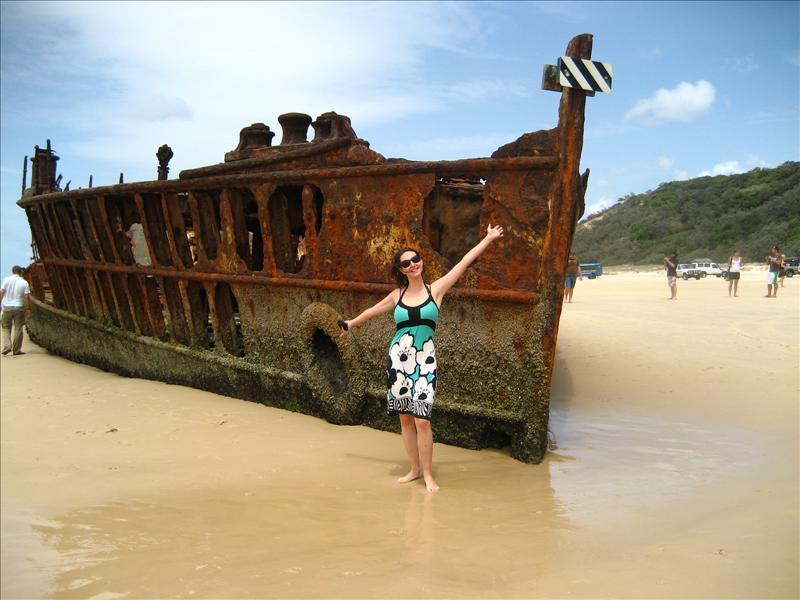 Ship wreck on Fraser