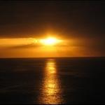 solnedgang over los christianos en dag