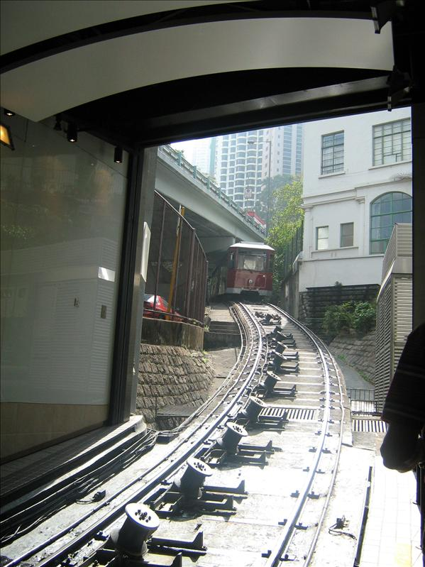 Tram Station at the Bottom of The Peak