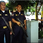 security outside manilla bank