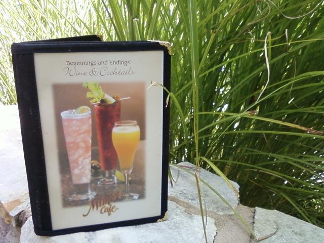 a drink menu