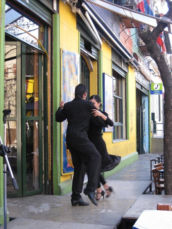 Tango show in La Boca