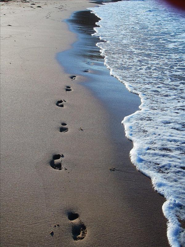 Footprints in the sand!!