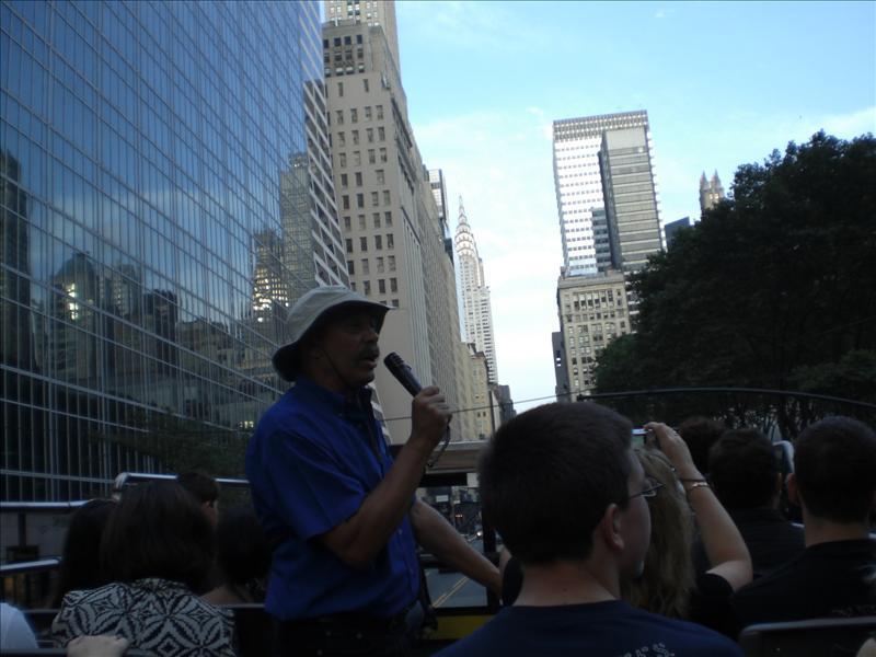 onze coole gids, die ervoor heeft gezorgd dat Bart ongeveer 5 dagen het liedje 'New York, New York' in zijn hoofd had. Bedankt nog...