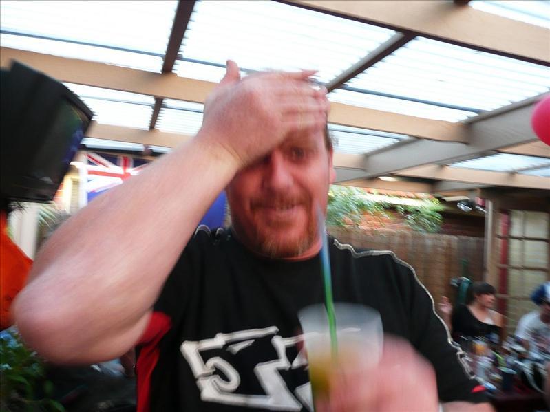 BRAIN FREEZE!! Alton, enjoying the vodka slushies :0)