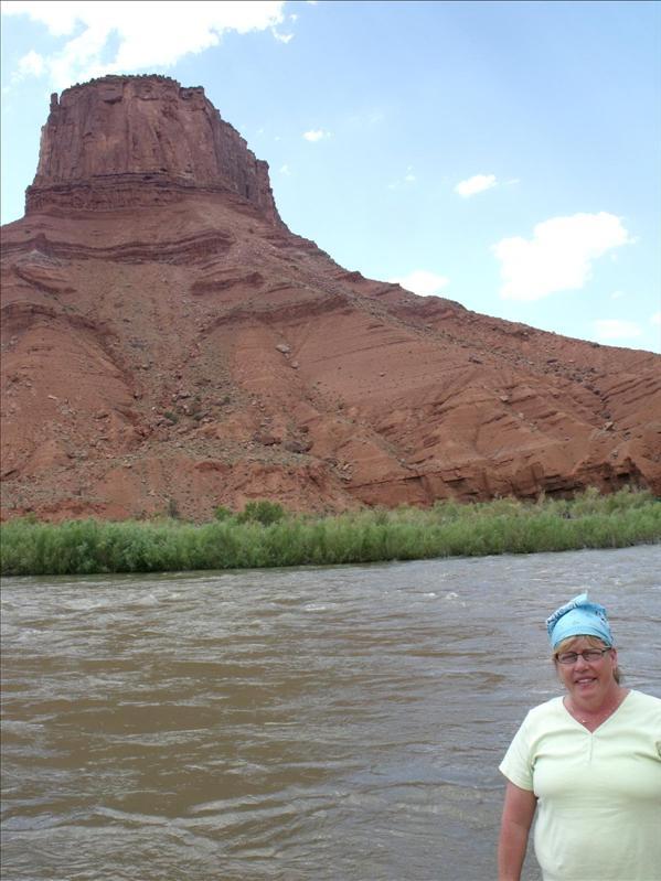 Mom next to Colorado River