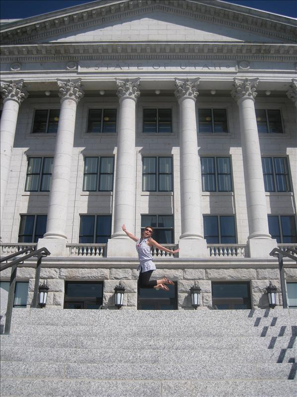 Jumping at the State Capitol