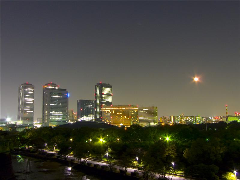 Moonrise at Osaka