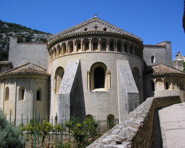 St Guilhem le Desert is a pretty villllage in an isolated position.