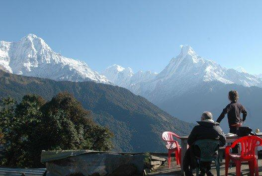 Annapurna Treks - Breathtaking view of Annapurna from tadapani.
