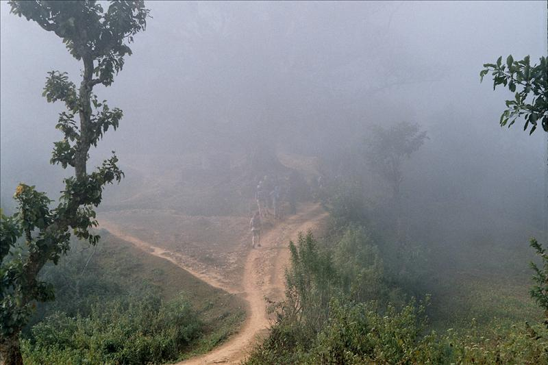 Heading into low cloud leaving Bandipur