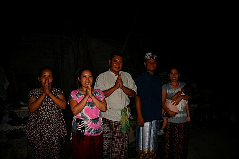 The family that prepared our dinner.