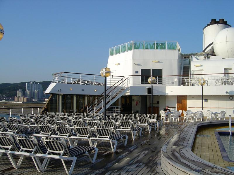 Sea View Pool &bar area on AFT section of the ship.