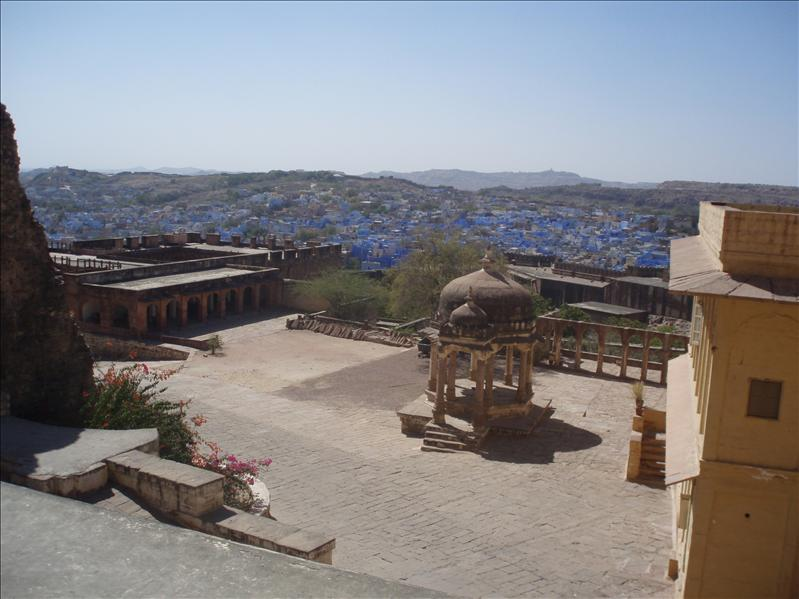 Overlooking Jodhpur, blue city, from M.Fort