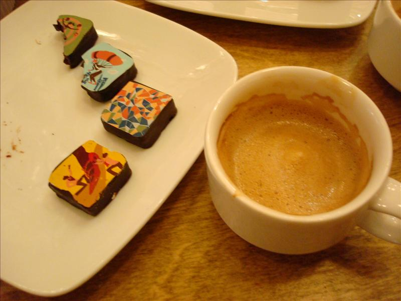 Chocolate paired with Espresso
