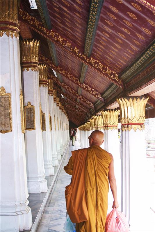 One of many Buddhist Monks at the Grand Palace.