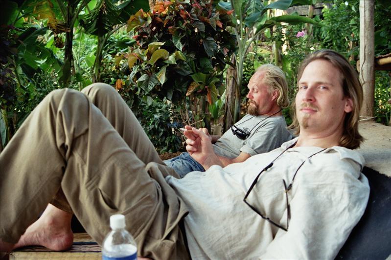 at the mango tree