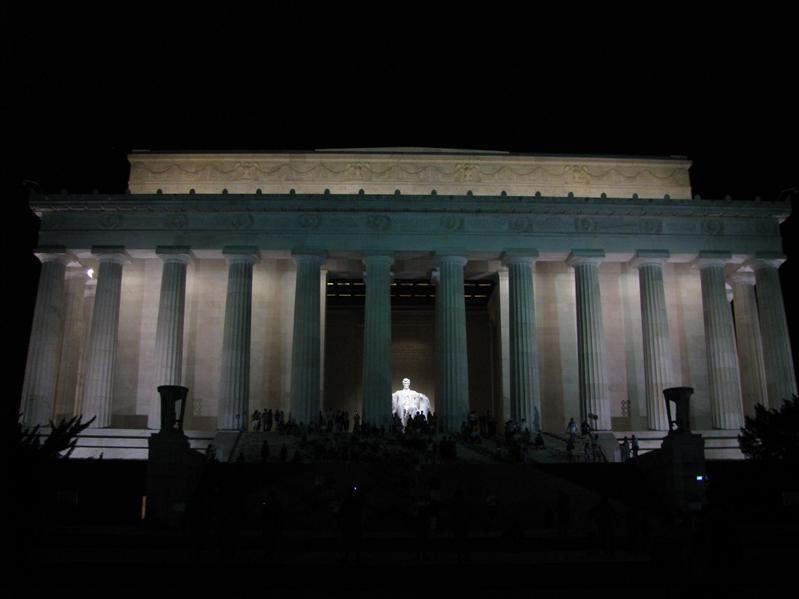 lincoln memorial bij nacht