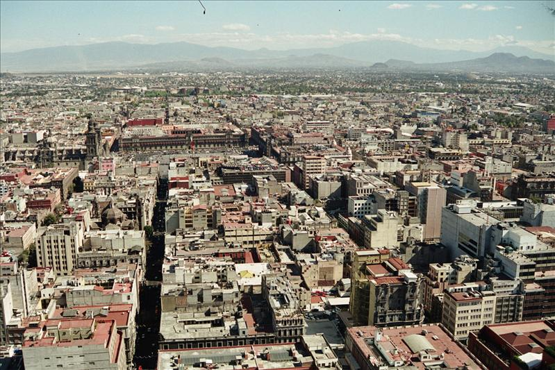 view from The Torre Latinoamericana