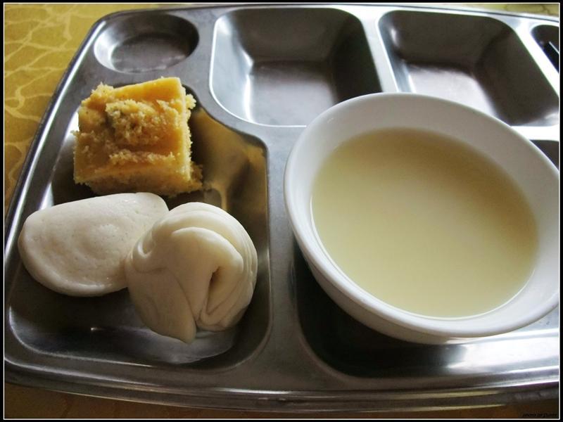 在北京的第一頓早餐,有夠清淡