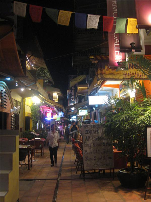 The Restaurant Alley in Siem Reap