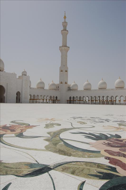 Courtyard with marble inlay