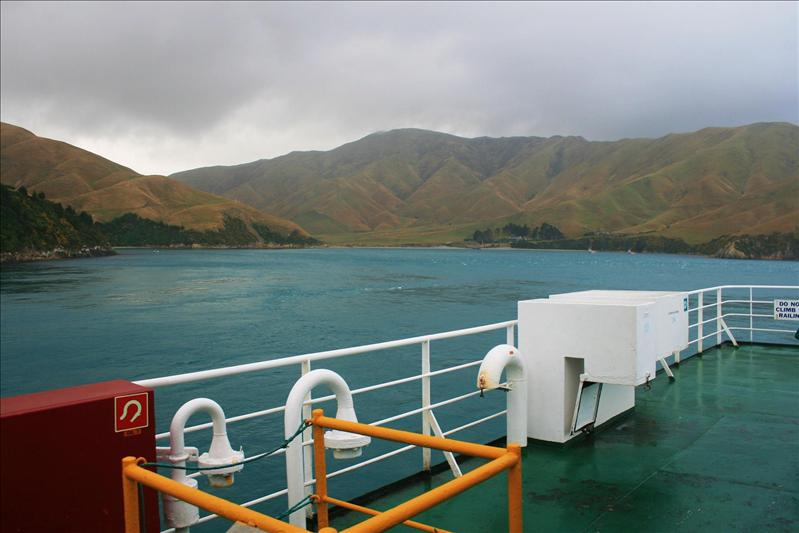 Arriving on the South Island.